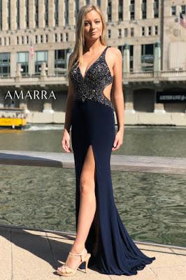 Cut out bodice prom dress amarra V-Plugning ammara
