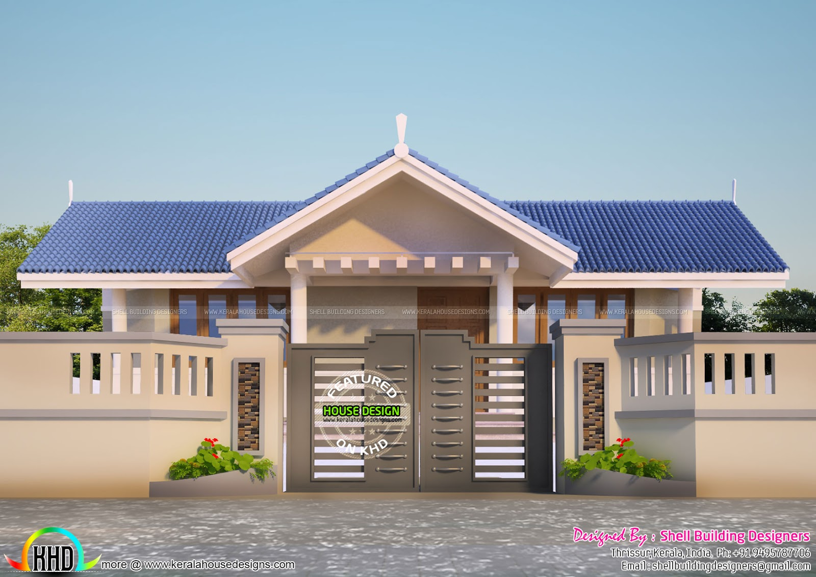 House plans 2017 sloping roof kerala home design and for Farmhouse plans 2017