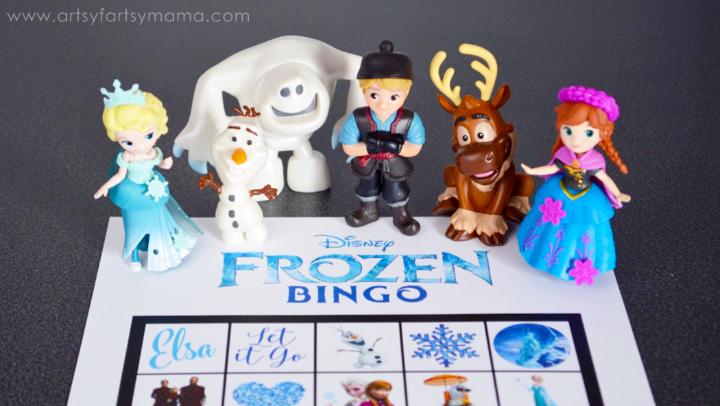 Free Printable Frozen Bingo and Frozen Movie Party Ideas at artsyfartsymama.com