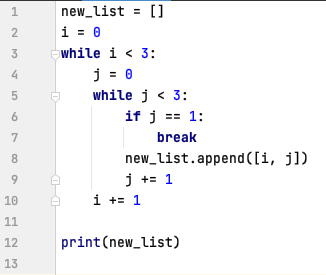 break statement in Nested while loop - Python