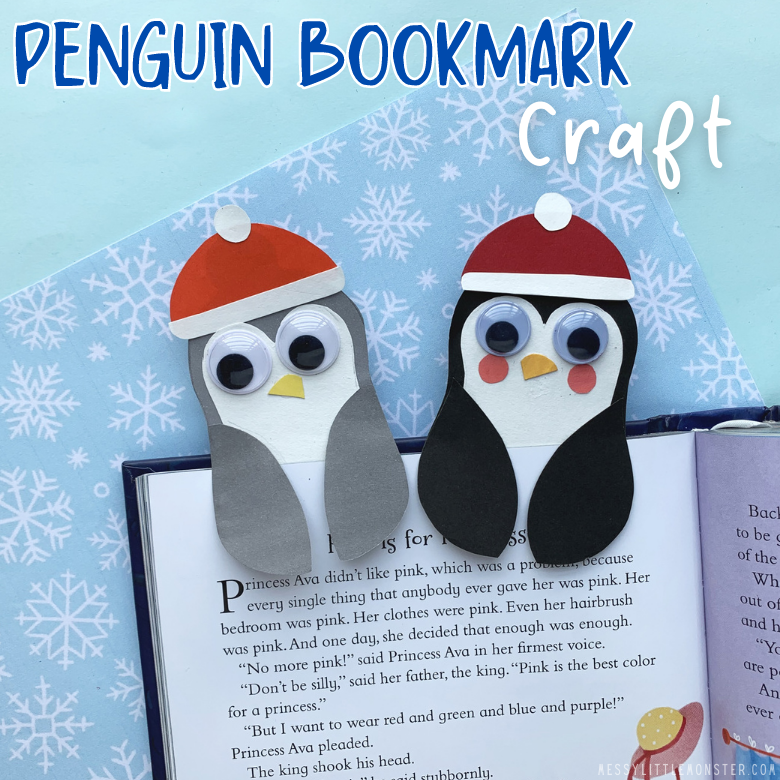 penguin bookmark craft
