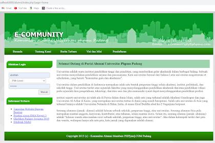 Aplikasi Website Komunitas Alumni Gratis Siap Digunakan
