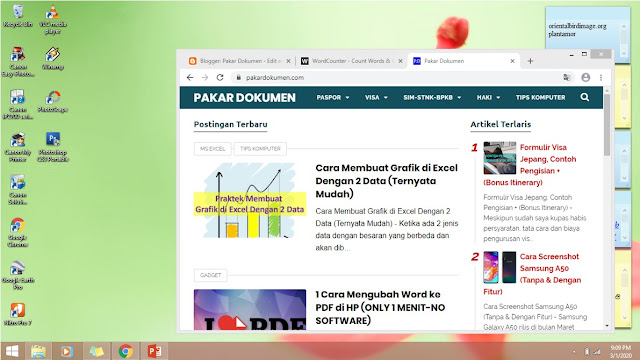 cara screenshot di laptop atau pc komputer tombol print screen 2