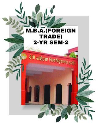 devi ahilya vishwavidyalay mba foreign mang. results sem 2