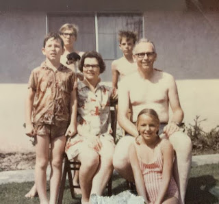 Dave Burdick, Bob Burdick, Snooper Burdick, Dorothy Burdick, Sandy Burdick, Albert Burdick, Roger Burdick about 1968