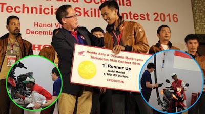 Mekanik Motor Honda Jadi Runner Up Ajang Kontes Mekanik Se-Asia dan Oceania