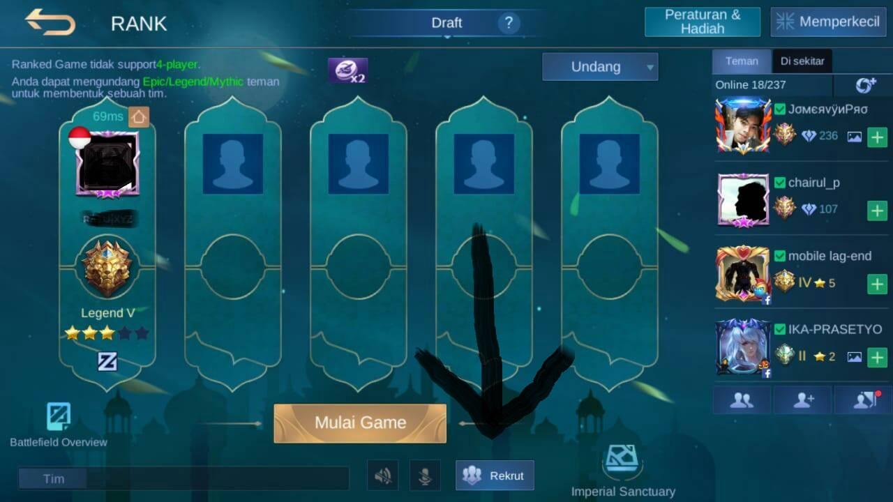 tips agar menang rank mobile legends
