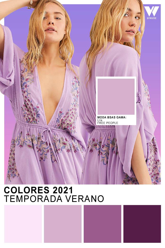 Colores Primavera verano 2021 Moda colores 2021 Lila lilas purpura