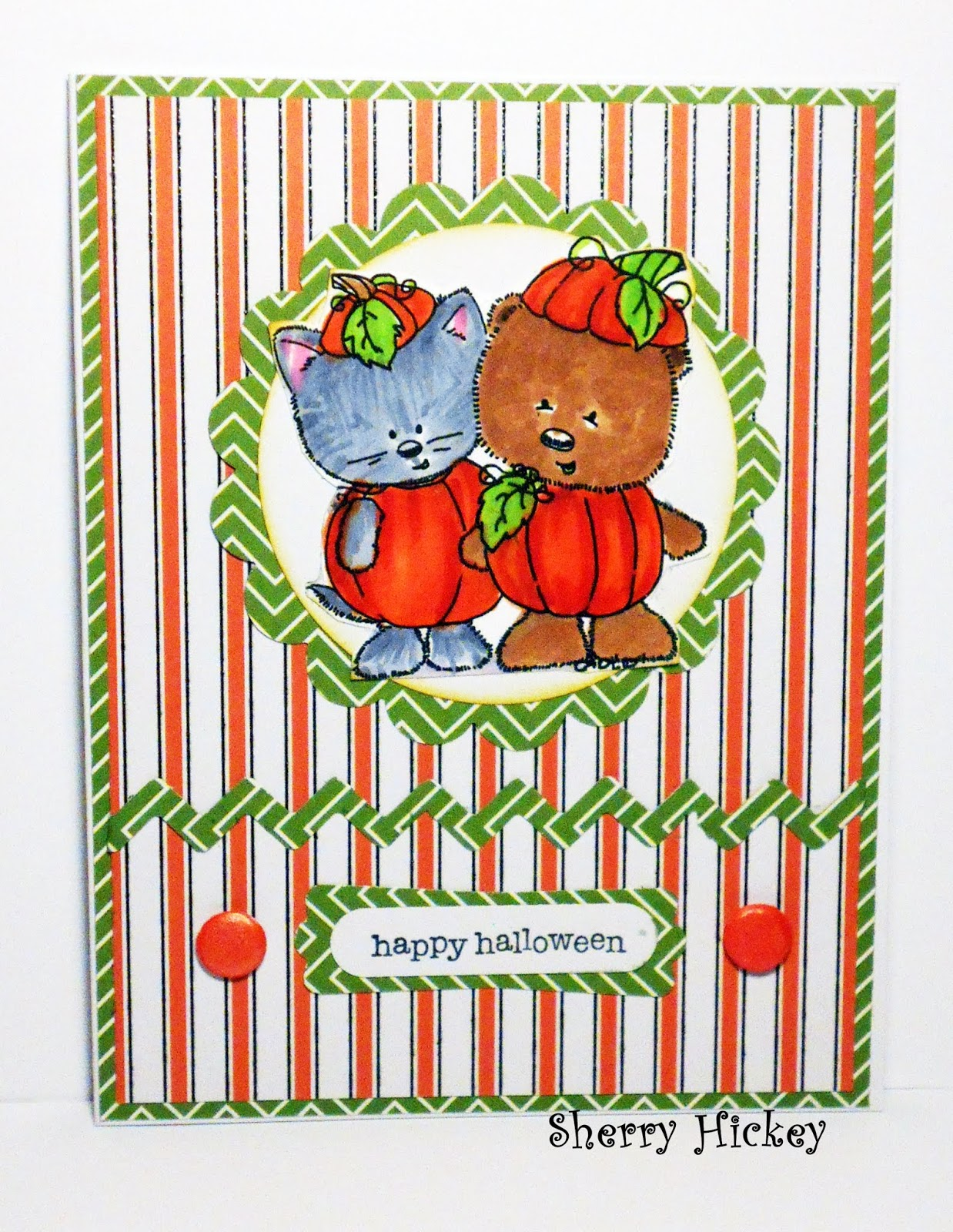 the new challenge at send a smile 4 kids is cute fall or halloween cards 4 kids or anything goes 4 kids here is a cute halloween card i made with a