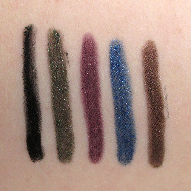 Urban Decay Travel-Size Set of 5 Delirious 24/7 Liners Holiday 2015 Swatches & Review
