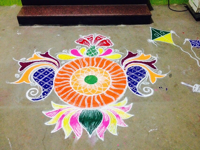 Rangoli Design for Pongal 32