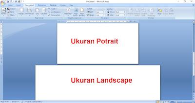 Cara Menggabungkan Kertas Ukuran Potrait dan Landscape