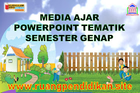 Download Media Ajar PowerPoint Tematik Semester 2 Kelas 4 SD/MI Kurikulum 2013