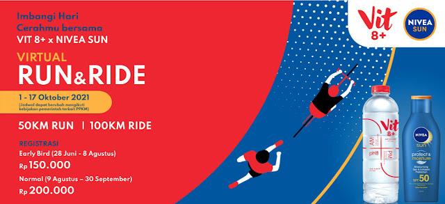virtual run and ride vit 8+ nivea sun