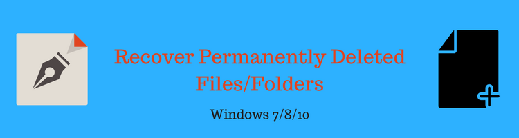 windows 10 recover deleted files