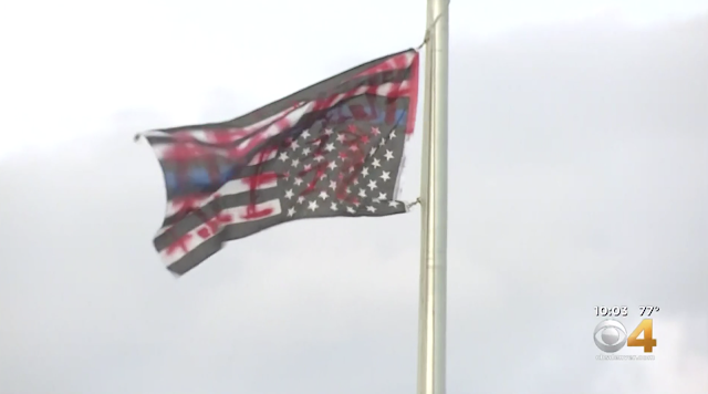 Protesters Remove U.S. Flag, Replace It With vMexican Flag Outside ICE Facility In Aurora