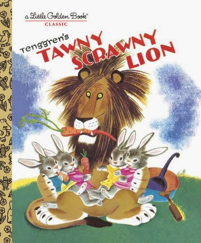 Tawny Scrawny Lion, part of book review list of jungle and rainforest books