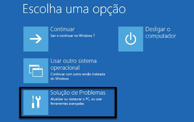 solução problemas windows 10