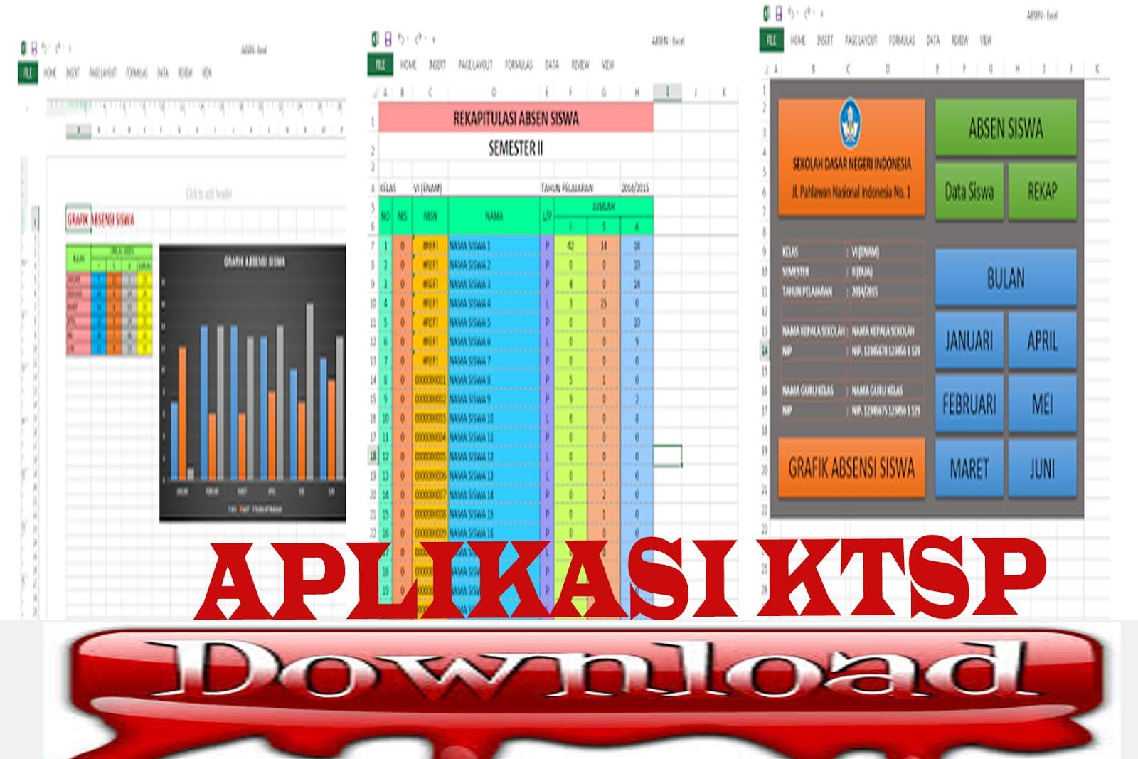 Download File Aplikasi Ktsp Plus Grafik Absensi Siswa Sd Xls Berkas Download Guru