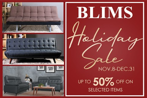 SHOP YOUR FURNITURE NEEDS AT BLIMS HOLIDAY SALE FROM NOV. 8-DEC.31, 2019