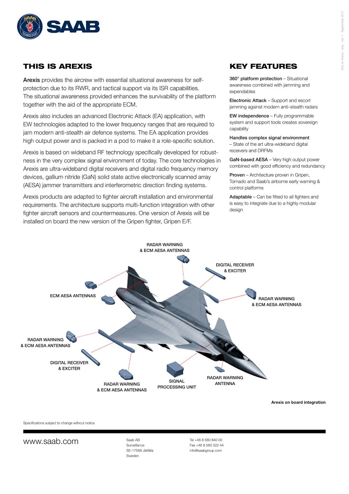 SNAFU!: SAAB Arexis escort jammer pod   a pocket E/A-18 for every