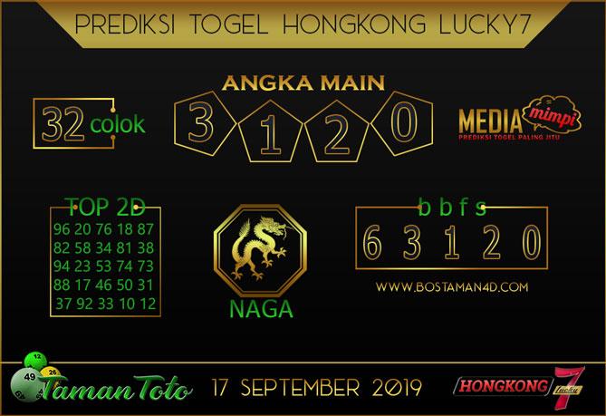 Prediksi Togel HONGKONG LUCKY 7 TAMAN TOTO 17 SEPTEMBER 2019