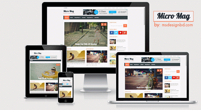 Micro mag responsive Blogger template