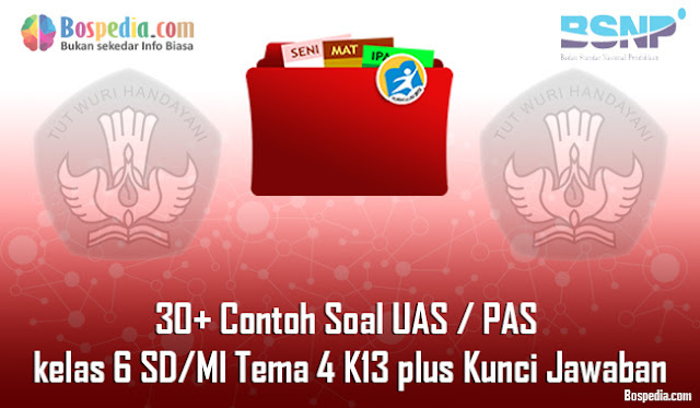 30+ Contoh Soal UAS / PAS untuk kelas 6 SD/MI Tema 4 K13 plus Kunci Jawaban