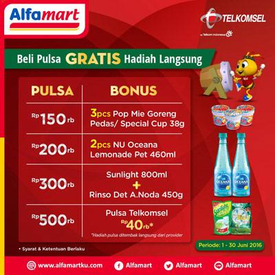 Beli Pulsa Telkomsel Gratis Hadiah Langsung – Alfamart