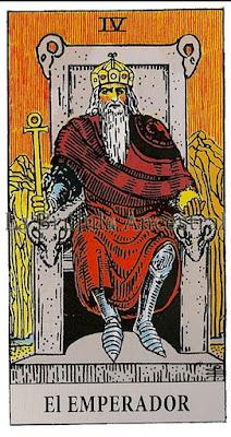El Emperador Tarot de Rider Waite