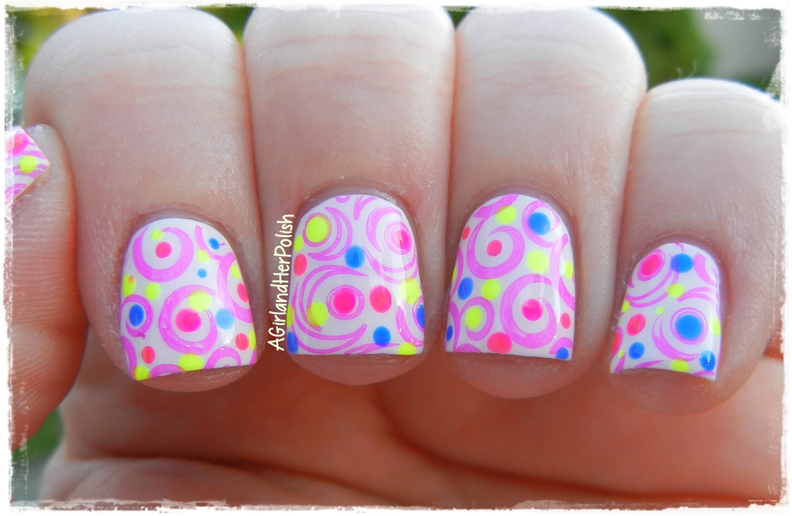 A Girl And Her Polish The Nail Challenge Collaborative Presents Neon Abstract Neon