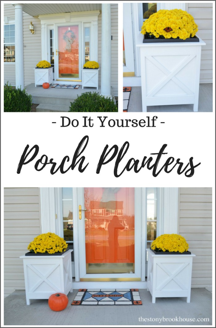 How To Build Beautiful Wood Porch Planters