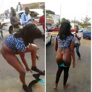 See how a Lady ran mad immediately she alighted from an expensive car