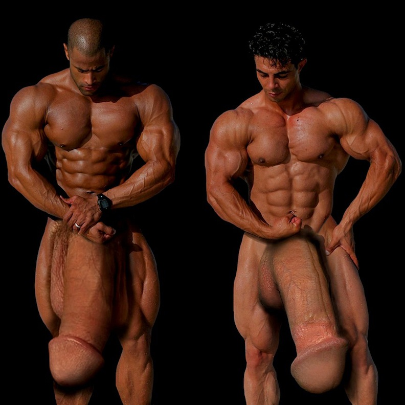 naked-bodybuilders-with-huge-meat