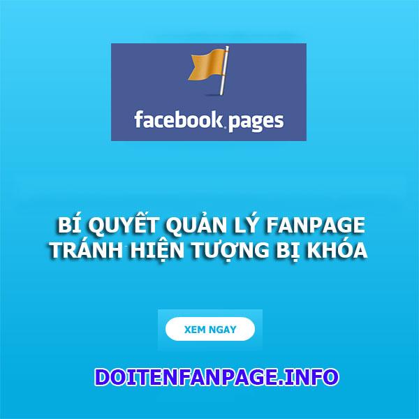doi tên fanpage facebook