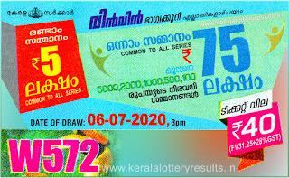 kerala lottery result, win win lottery, 06-07-2020