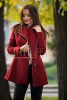 Palton grena din lana