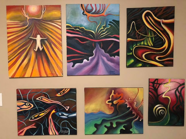 Surreal Abstract Psychedelic Paintings