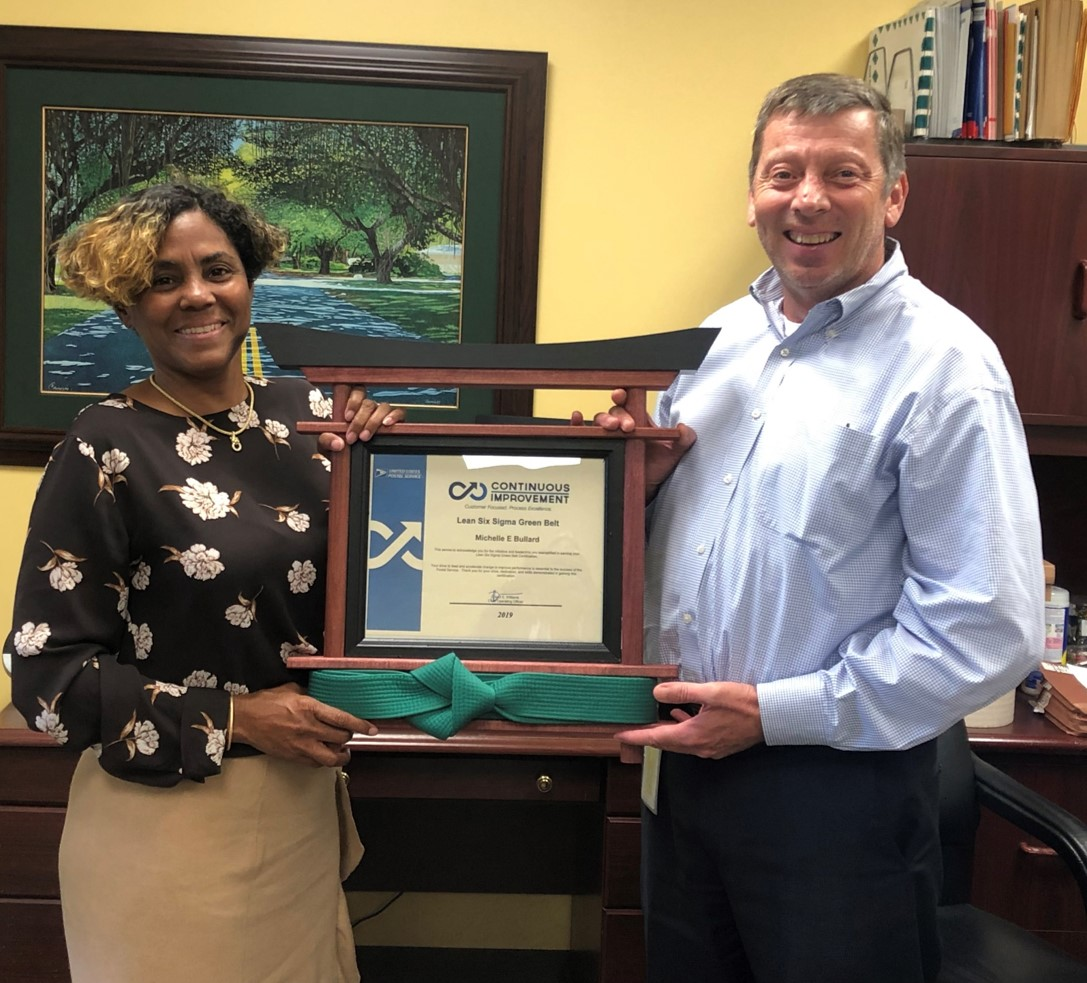 South Florida Postal Blog: Finance Employee Earns Green Belt