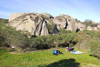 Boulder o Bloque en Los Barruecos Extremadura