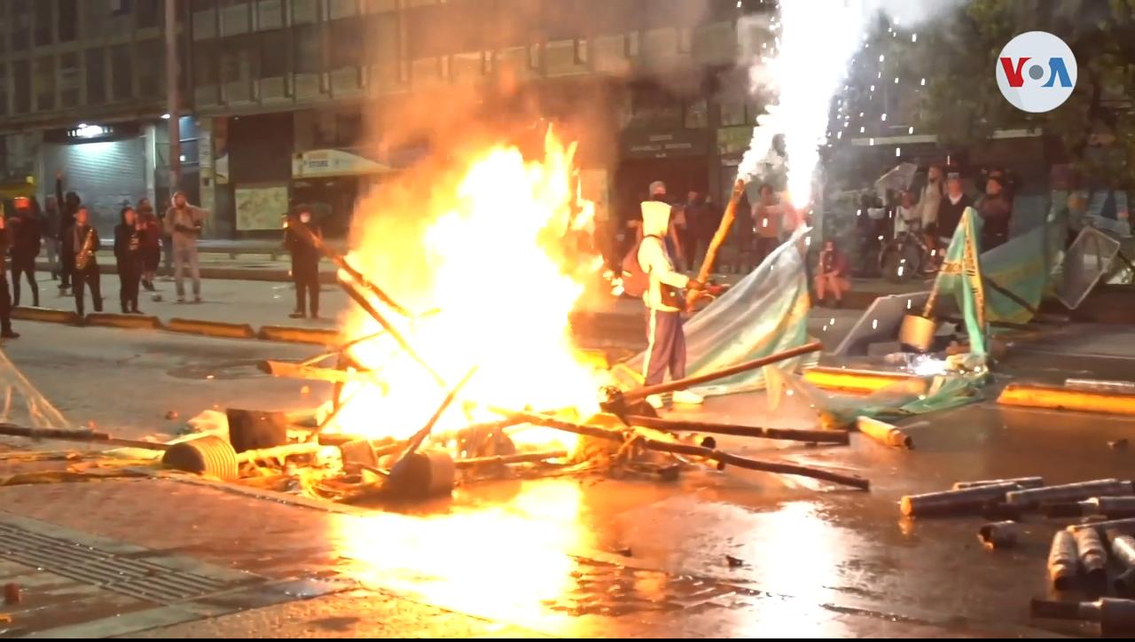 Las masivas manifestaciones en Colombia comenzaron el miércoles 28 de abril, a raíz de una convocatoria realizada por trabajadores, sindicatos, estudiantes y otras agremiaciones / VOA