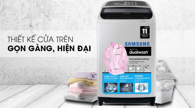Máy giặt Samsung WA90J5710SG/SV