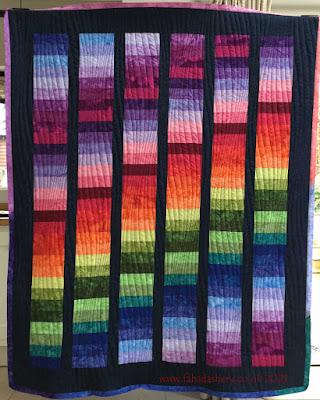 Olwen's Rainbow quilt