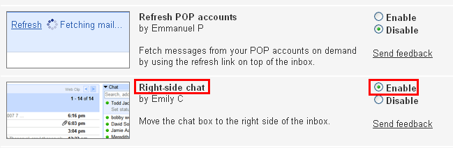 Ashiztooambitious: Move the Chat box in Gmail from left-side