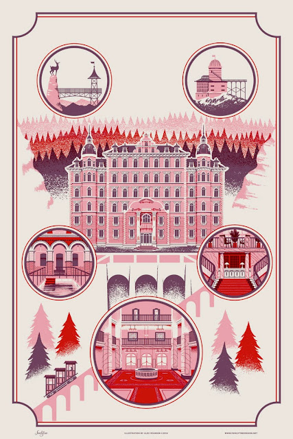 Grand Budapest Hotel  travel poster by Alex Pearson