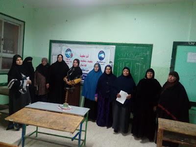 مستقبل وطن يفتتح 9فصول لمحو امية السيدات بكفرالشيخ