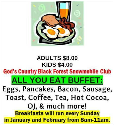 1-20 Snowmobile Club Breakfast, Germania, PA