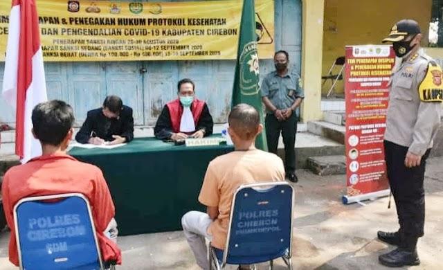 Aparat Gabungan Kota Cirebon Gelar Operasi Protokol Kesehatan
