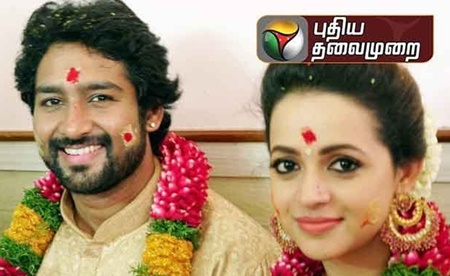 Actress Bhavana gets married at Thrissur #Bhavana