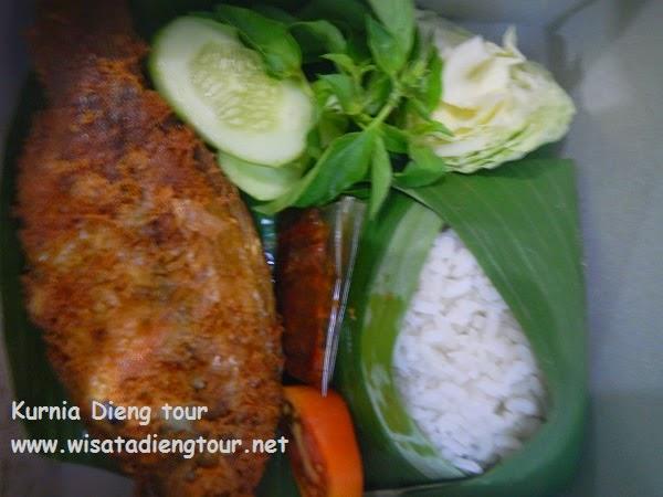 cathering nasi box di dieng